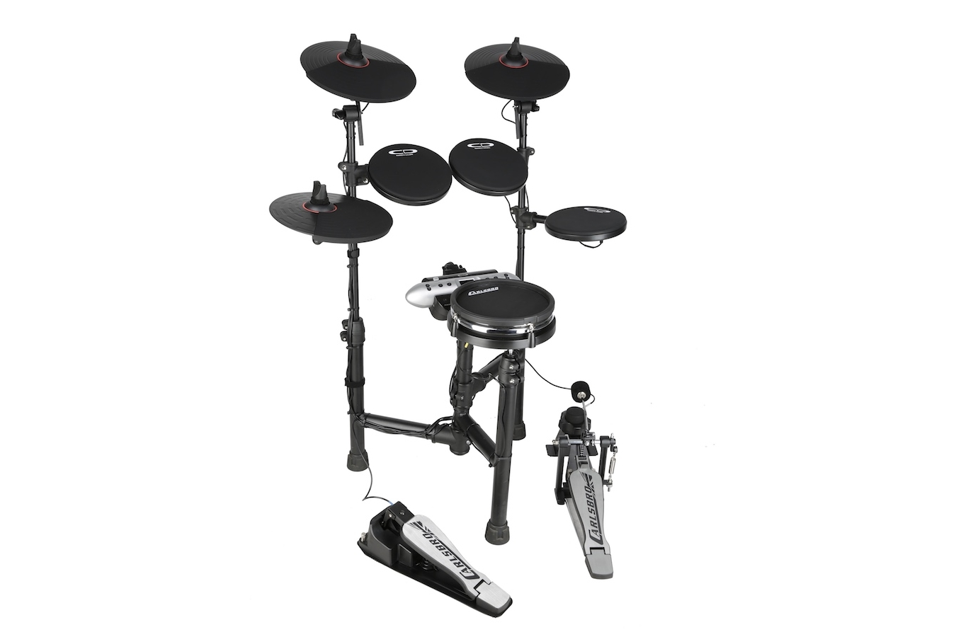 Carlsbro CSD130M mesh snare electronic drum set left side