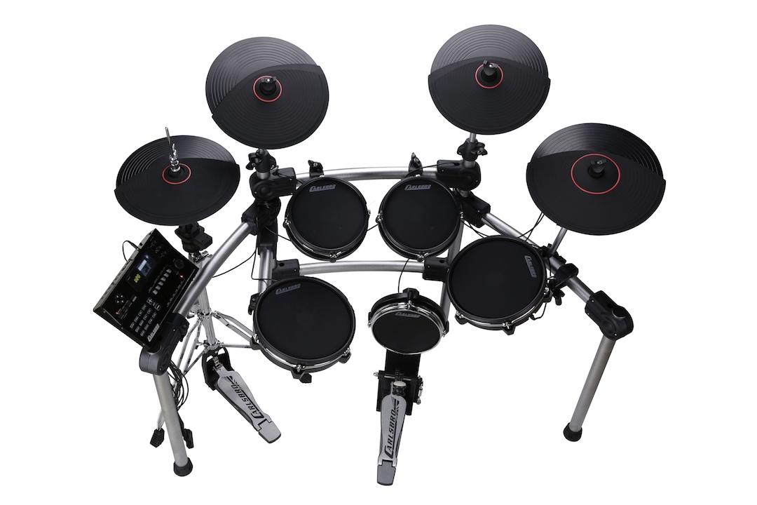 Carlsbro CSD600 electronic drumkit drum set above view