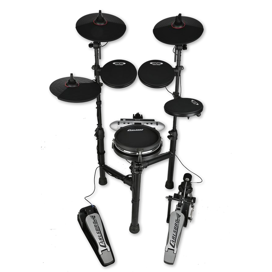 Carlsbro CSD130M mesh snare electronic drum set front alpha