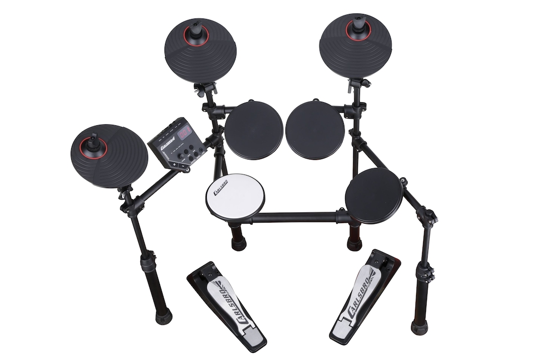 Carlsbro CSD100 electronic drumkit drum set front above view