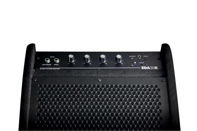 Carlsbro EDA30B Drum amp active monitor panel